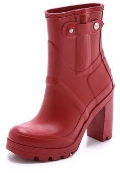 For the rainy Season!!! Hunter Boots Original High Heel Booties