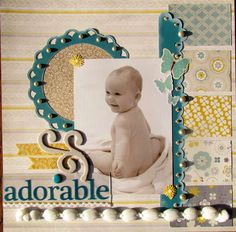 """Posted by """"Scrapbook Queen"""" on scrapbook.com. Who doesn't love a good naked baby pic?"""