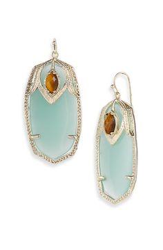 Kendra Scott 'Darby' Oval Stone Statement Earrings $65