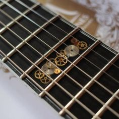 Image result for guitar inlay steampunk