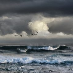 I love the sound, the thunder of waves