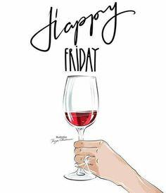 Cheers to Friday and Wine! Cheers to Friday and Wine! Hello Friday, Hello Weekend, Friday Weekend, Bon Weekend, Weekend Meme, Friday Morning, Friday Illustration, Happy Friday Quotes, Tgif Quotes