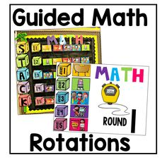 This guided math rotation board will keep you and your students organized and on track for your math block every day, perfect for kindergarten, first, or second grade math centers! Guided Math Stations, Guided Math Groups, Math Rotations, Math Centers, Numeracy, Math Classroom, Kindergarten Math, Teaching Math, Classroom Ideas