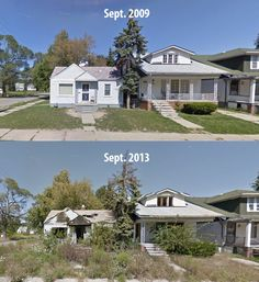 More than a third of the houses and buildings are vacant in eight Detroit neighborhoods. Detroit Ruins, Detroit Houses, Abandoned Detroit, Abandoned Buildings, Abandoned Places, Detroit Neighborhoods, The Neighbourhood, Desert Places, Real Haunted Houses