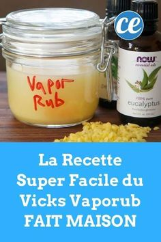 The Super Easy Recipe of Vicks VapoRub Homemade. - The Super Easy Homemade Vicks Vaporrub Recipe. Vapo Rub, Uses For Vicks, Vicks Vaporub Uses, How To Stop Coughing, Chest Rub, Chesty Cough, Sinus Congestion, Decongestant, Cold Remedies