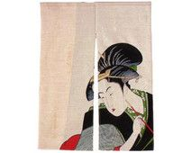 Buy a noren curtain Japanese noren curtains are made from cotton or silk and make a lovely decoration for any home. Noren Curtains, Japan, Geisha, Motorhome, Interior, Outdoor Decor, Rv, Home Decor, Decoration Home