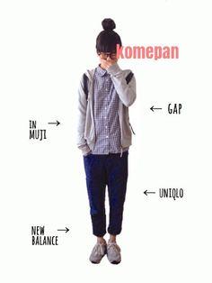 tumさんのシャツ・ブラウス「無印良品 ギンガムチェックシャツ」を使ったコーディネート
