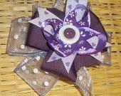 5 Inch Purple Hair Bow
