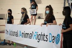 "NARD Malta Banner at National Animal Rights Day in Malta. ""Activists Unite"" Speech by Nataša Pantovič"
