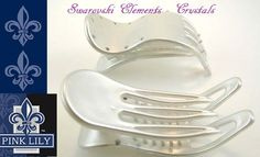 www.pinklilyretail.com Made in France! Swarovski Hair clips!