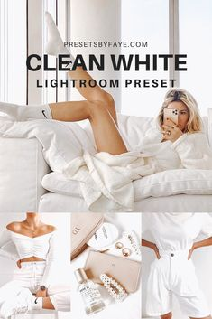 Clean White Preset Pack is giving images a stunning look in one click! Our presets are perfect for blogger, travel, lifestyle, outdoor, indoor, portrait, wedding, and selfie photos for your instagram feed. Improve your photos like a professional editor and get an amazing results! This preset pack has 10 DNG file which is made by PresetsbyFaye. #lightroom #lightroompresets #presetsforlightroom #lightroommobile #instagramgoals #lightroomfilters #presetsbyfaye Instagram Design, Instagram Ideas, Instagram Feed, What Is Lightroom, Lightroom Presets, Aesthetic Photo, Aesthetic Pictures, Vsco Filter, Photo Tutorial