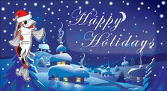 Happy Holidays from the pond supplies & water garden professionals at Russell Watergarden!