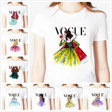 Tatuaje vogue princess snow White Print mujeres camiseta de algodón ocasional camisa blanca camiseta Top grandes del tamaño S-XXXL inconformista BZ-331(China (Mainland))