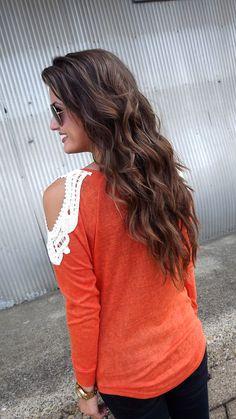 shirt - lace cut out cuteness!