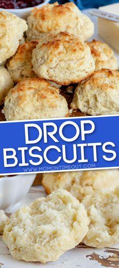 Homemade Drop Biscuits, Easy Drop Biscuits, Sweet Potato Biscuits, Buttermilk Drop Biscuits, Quick Biscuit Recipe, Drop Biscuit Recipes, Easy Biscuit Recipe 3 Ingredients, Croissants, Crack Crackers