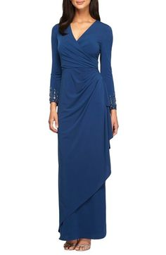 02c80c44c1a Alex Evenings Embellished Jersey Gown