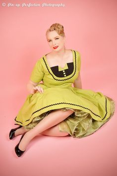 Retro Rockabilly Pinup Pin Up 50s Style Dress Pale by CherryTiki, $219.95