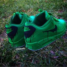 more photos 828fb 6e646 Nike Air Max 90 Custom Candy Melt Dark Green Womens   Mens Trainers was Now  save up to off.