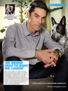 This week in my OK! Pets feature in OK! magazine we feature 'Ciminal Minds' star Thomas Gibson and Bowie. Pick up a copy and read how Bowie reminds Thomas of his character Hotch on the show. On Stands now!