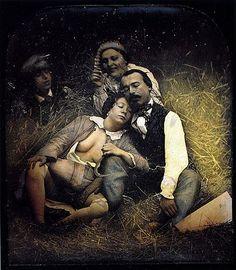 daguerreotype, ca. 1855, (erotic scene in a hayloft) attributed to Felix Jacques Antoine Moulin via Luminous Lint