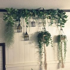 Trendy Patio Wall Art Diy Home Decor Ideas Cheap Home Decor, Diy Home Decor, Room Decor, House Plants Decor, Plant Decor, Plant Wall, Hanging Plants, Indoor Plants, Patio Plants
