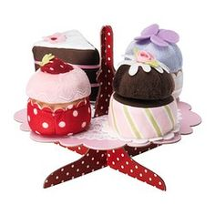 GRATTIS, 5-p serving stand with cupcakes set