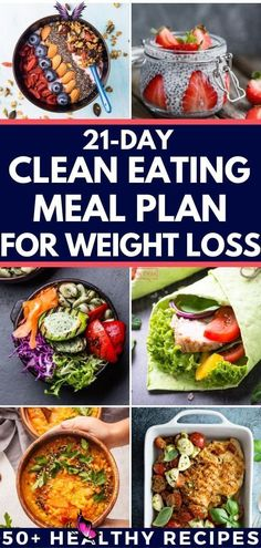 The Easy Way to Eat Clean – A 21 Day Healthy Eating Meal Plan for Weight Loss If you're looking for healthy recipes for weight loss here's all you need to start eating clean-the easy way! These easy clean eating recipes for breakfast, lunch, and dinner are full of fat burning foods to help you lose belly fat and lose weight. Whether you're on the 21 Day Fix, or high-protein, low carb diet you'll love this clean eating meal plan designed to help you meet your health, weight loss, and fitness… Healthy Eating Meal Plan, Easy Clean Eating Recipes, Ketogenic Diet Meal Plan, Healthy Recipes For Weight Loss, Ketogenic Recipes, Diet Recipes, Eating Clean, Diet Desserts, Diet Tips