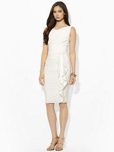 Sleeveless Silk-Ruffle Dress - Evening Dresses  Dresses - RalphLauren.com