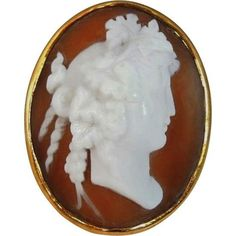 #Antique Cameo Ring 14k Gold Huge #GotVintage #cameo #rings #gold #beautiful #rare #treasures
