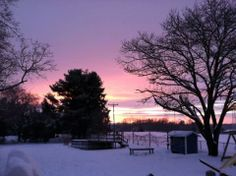 Jennifer Cook, Verona 	 Sunset in Verona after snowstorm 2/13/14 #WHSVsnow