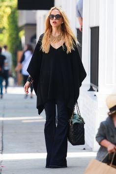 Rachel Zoe: Statement Necklace + Flowy Top + Wide-Leg Jeans