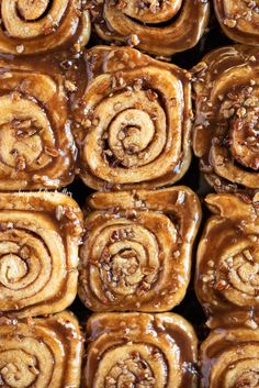There is nothing better than the smell and taste of these Homemade Sticky Buns from Scratch! This sweet breakfast recipe combines a simple dough that's slathered in a buttery cinnamon sugar, and topped with an ooey-gooey caramelized pecan topping. They will melt in your mouth the minute you take that first bite! So, grab your 13 x 9 pan and let's get baking! | Makes 12 sticky buns | BeyondtheButter.com | #cinnamonrolls #stickybuns #breakfast #pecantopping #beyondthebutter