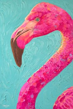 Oil Paintingpink Flamingo Flamingos Flamingo Art Bird Birds Oil On Canvas Birds Painting, Painting Gallery, Art Painting, Bird Paintings On Canvas, Oil Painting, Flamingo Painting, Nature Artwork Paintings, Bird Art, Acrylic Painting Canvas