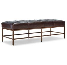 MAJOR BENCH OTTOMAN LEATHER<BR>[available online and in stores]
