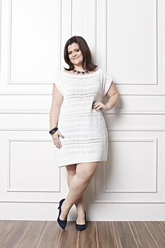 Receitas Círculo - Plus Size - Vestido Branco