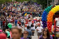 The 38th Annual Pride Parade is happening in downtown Seattle on June 24, 2012.
