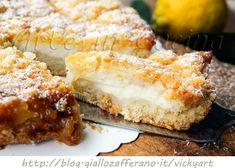 Sbriciolata ricotta e limone senza uova, con crema veloce senza cottura, ricetta facile, dolce al limone, sbriciolata veloce ripiena, dolce da merenda, colazione