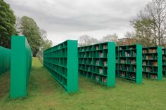 Italian artist massimo bartolini has developed an expansive outdoor public library entitled 'bookyard' for belgian art festival, TRACK: a contemporary city conversation in ghent. All Over The World, Around The Worlds, Eco Architecture, Library Design, Library Ideas, Open Window, To Infinity And Beyond, Book Nooks, Green Building