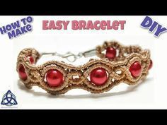 Macrame Bracelet with Beads Tutorial- EASY DIY and CRAFTS - YouTube