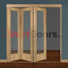 Image of Freefold Oak Pattern 10 Style Folding 3 Door Set with Obscure Glass Folding Patio Doors, Internal Folding Doors, Internal Double Doors, Interior Paint, Interior And Exterior, Interior Decorating, Entry Doors, Sliding Doors, Sliding Door Window Treatments
