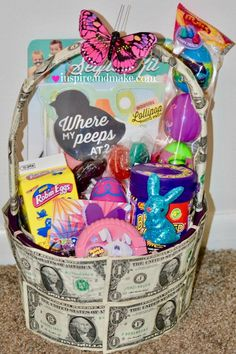How to make easter extra fun for toddlers kids and teens 7 ways to create a unique money gift basket negle Image collections