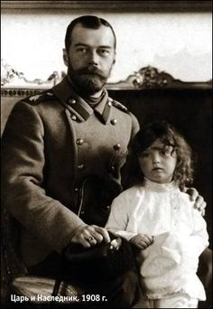 Czar Nicholas II with his beloved son,  Czarevich Alexei. Got to be one of the sweetest pics of Nick and Alexy ever.