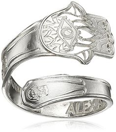 Alex and Ani Spoon Hand of Fatima Stackable Ring Size 79 -- Be sure to check out this awesome product.Note:It is affiliate link to Amazon.