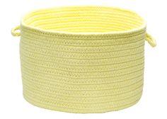 Bristol Round Braided Basket, WL14 Yellow