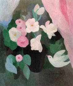 """Marie Laurencin """"Vase of Flowers with a Bird"""", 1927"""