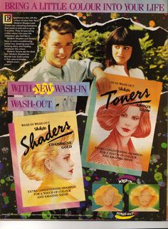 80's Sikwin Shaders and Toners Wash In and Wash Out Hair colours, Love this Ad.....
