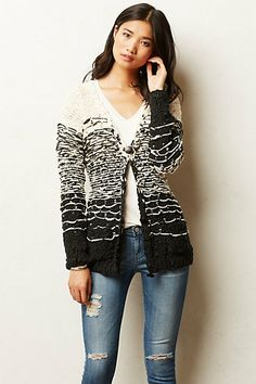 Gradient Cardigan #anthropologie. Not sure what I'd wear it with, just like the look of it.