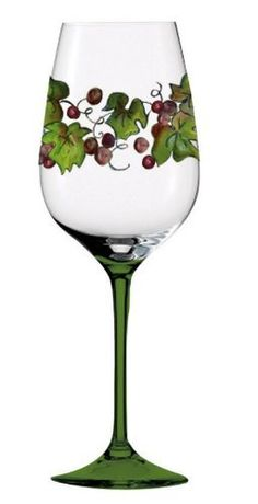 Barware, By the Glass,Handpainted Wine Glass 12 oz,Glass,3.75x9 Inches by Cypress Home. $14.88