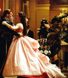 Patrick Wilson as Raoul, Viscount of Chagny and Emmy Rossum as Christine Daaé in The Phantom of the Opera (2004).