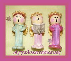 Αγγελοκατασκευές: ΑΓΓΕΛΟΙ ΣΤΟΛΙΔΙΑ ΑΠΟ ΖΥΜΑΡΙΚΑ - PASTA ANGEL ORNAMENTS